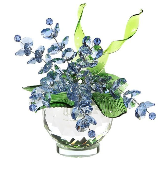 Хрустальный букет Swarovski в вазочке Поляна цветов