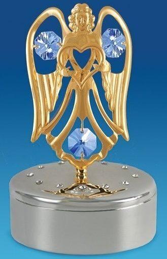 Шкатулка с кристаллами сваровски Ангел с сердцем