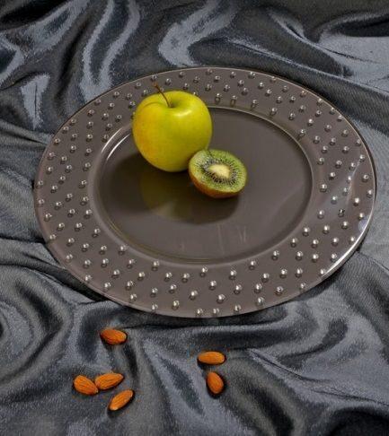 Блюдо круглое со стразами сваровски Сицилия