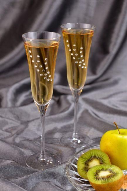 Набор фужеров для шампанского с кристаллами Swarovski Sweet dream