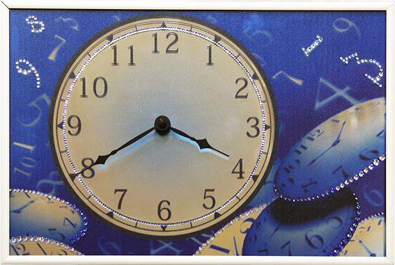Настенные часы со стразами сваровски  Пространство и время