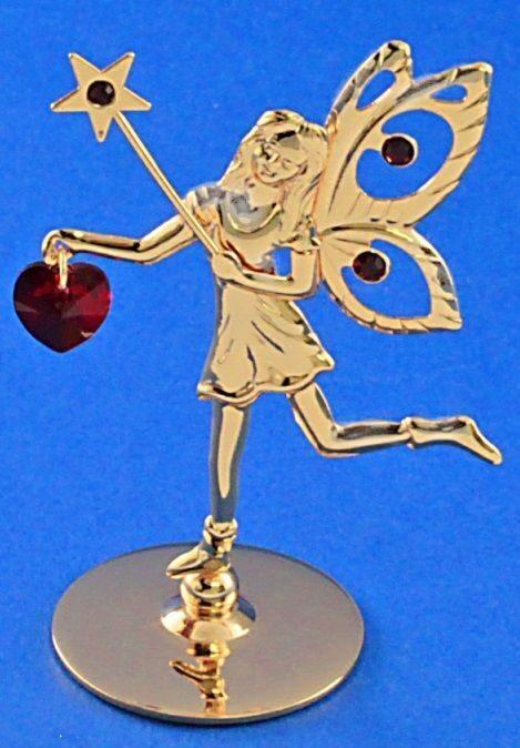 Фигурка с кристаллами сваровски Фея с сердечком