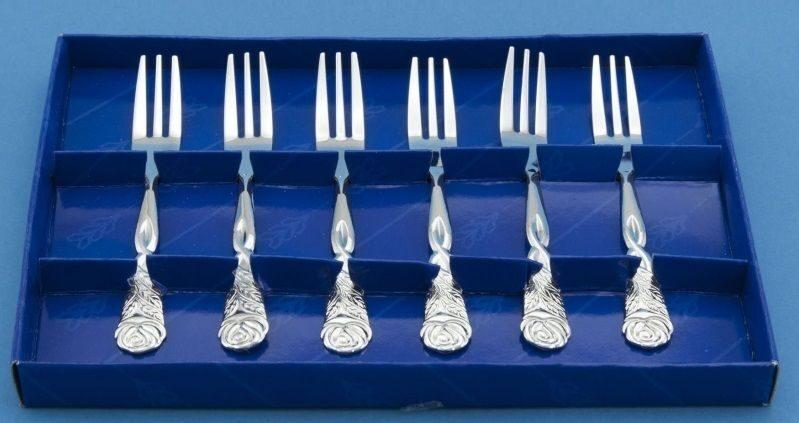 Вилки в коробочке Серебро столовое
