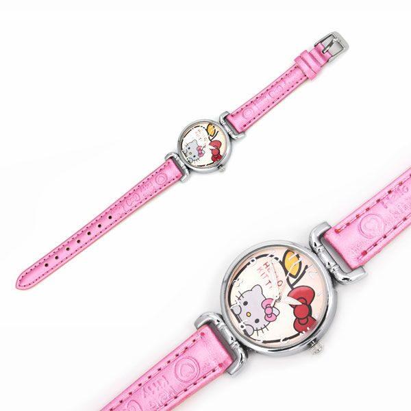 Часы на кожаном ремешке Модница