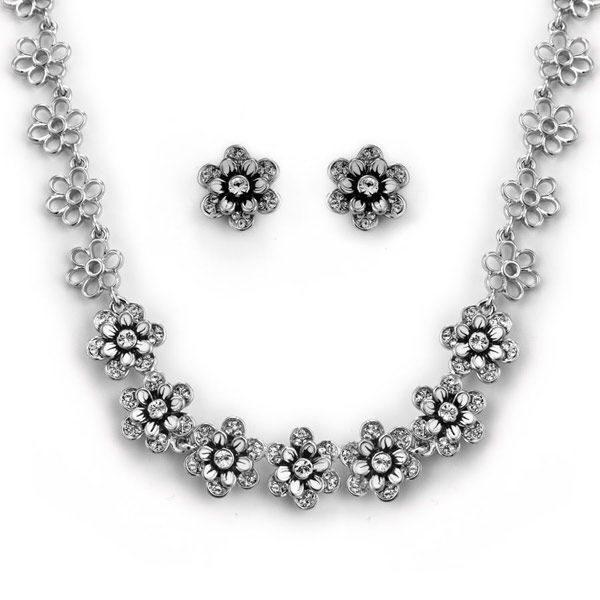Комплект украшений с кристаллами Swarovski Поляна цветов