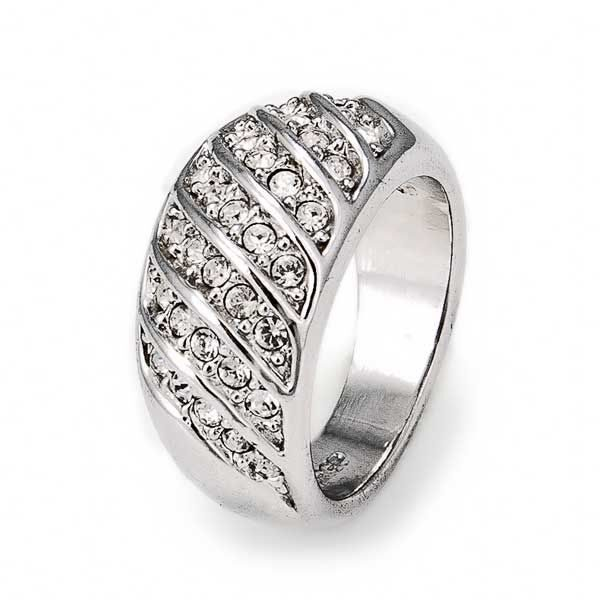 Кольцо с кристаллами  Swarovski  Аврора