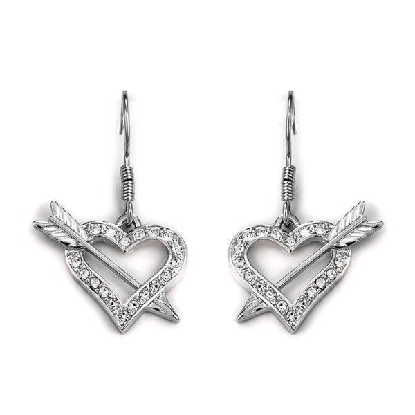 Серьги с кристаллами сваровски Влюбленность