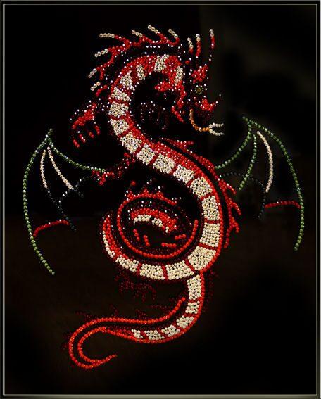 Картина с кристаллами SwarovskiКрылатый дракон