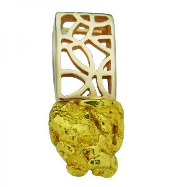 Кулон с золотым самородком Иероглиф
