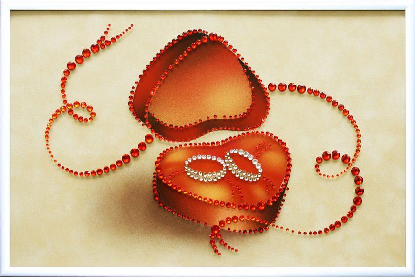 Картина с кристаллами Swarovski  Любовь и верность