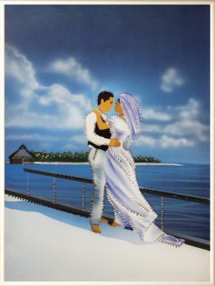 Картина с кристаллами Swarovski  Свадебное путешествие