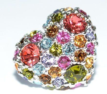 Гвоздики с кристаллами Swarovski  Кабашон сердечко.