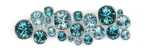 Брошь с кристаллами сваровски Морской бриз