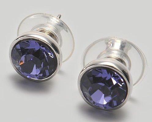Гвоздики с кристаллами сваровски  Бриллиант
