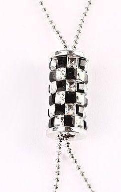 Подвеска с кристаллами сваровски Цилиндр