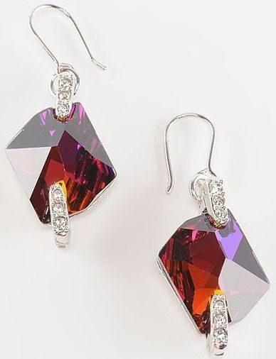 Серьги с кристаллами Swarovski Космик