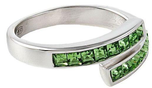 Кольцо с кристаллами  Swarovski  Миниквадраты
