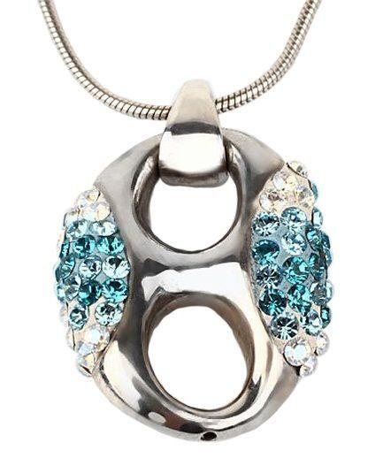 Серебряный кулон с кристаллами Swarovski  Эллипс