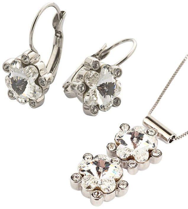 Комплект украшений с кристаллами сваровски Цветы