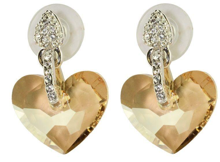 Гвоздики с кристаллами сваровски  Pretty, сердечко
