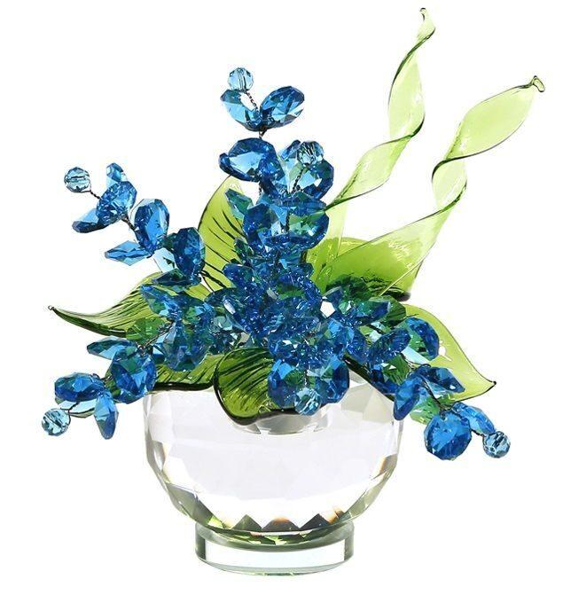 Хрустальный букет Swarovski Небесно-синий