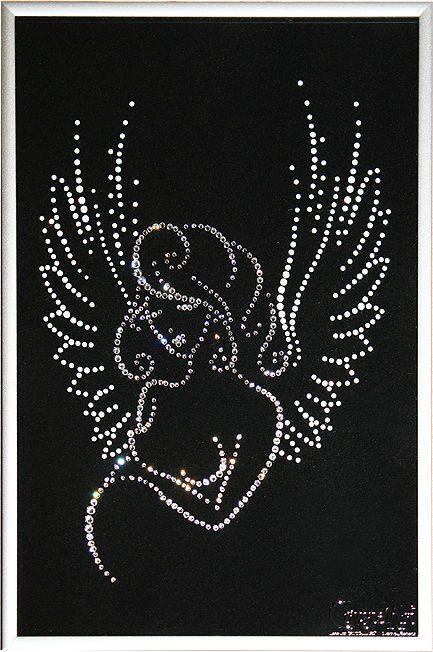 Картина с кристаллами Swarovski  Рождение ангелочка