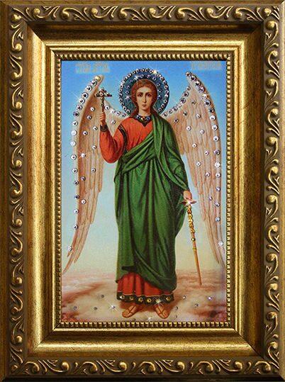 Икона с кристаллами Swarovski Ангел-Хранитель