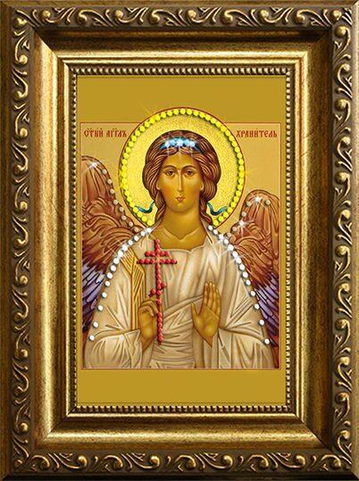 Икона с кристаллами сваровски Ангел-Хранитель 2