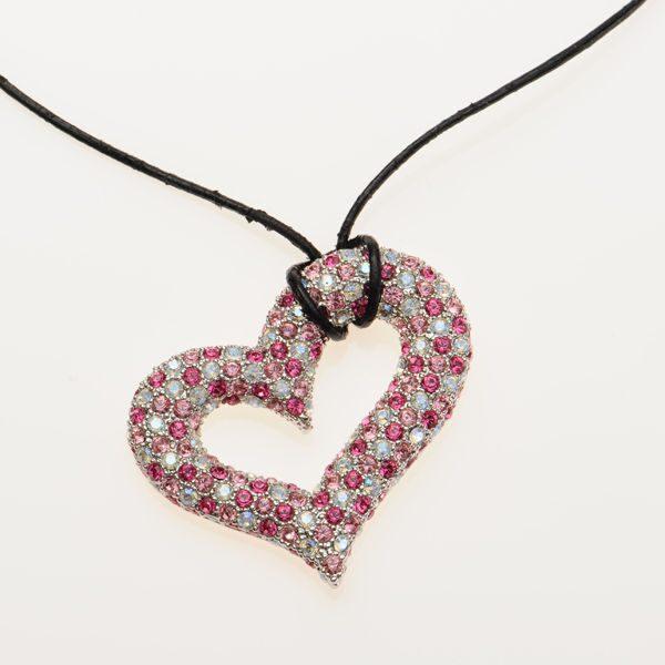 Подвеска с кристаллами Swarovski  Сердце Дивы