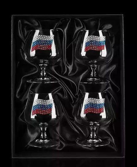 Набор бокалов для коньяка с кристаллами Swarovski  Державный