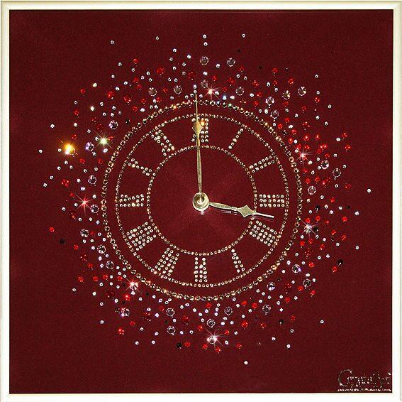 Настенные часы Swarovski Счастливое время
