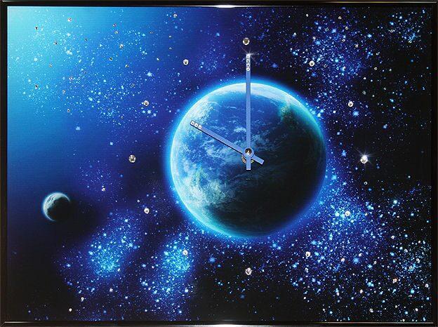 Часы с кристаллами сваровски  Космос