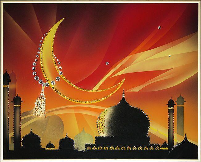 Картина с кристаллами Swarovski Молитва сердцем и руками