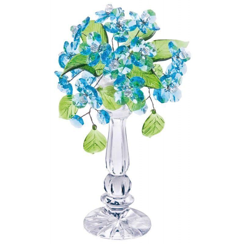 Хрустальный букет цветов Лазурь