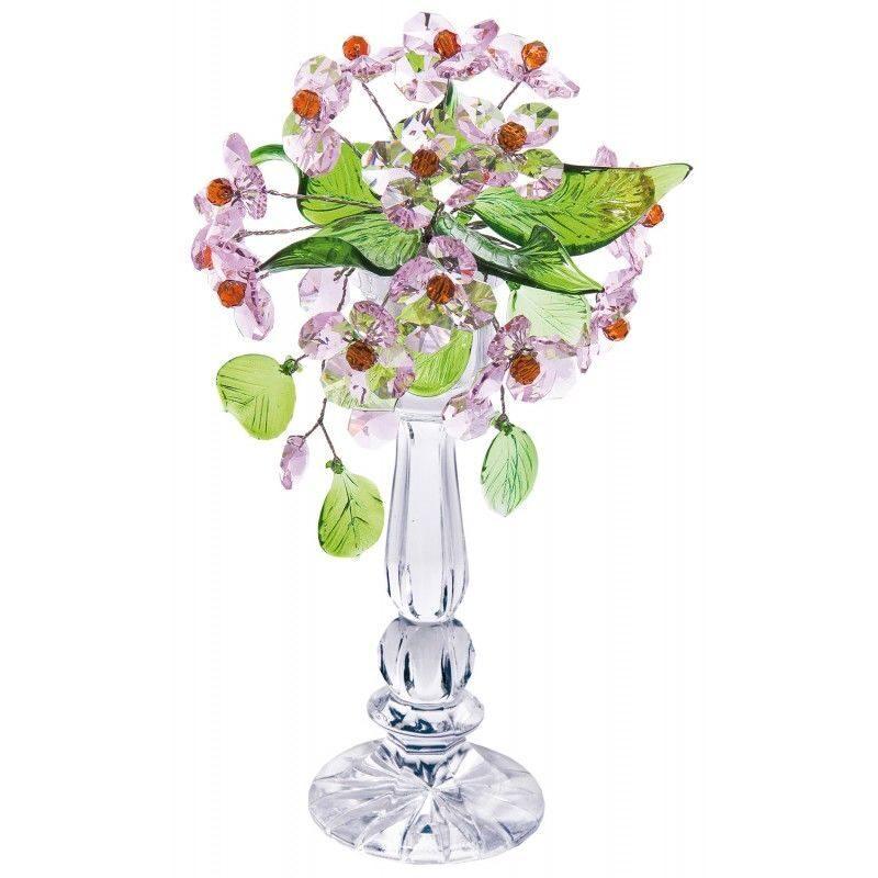 Цветочная композиция из хрусталя Розовый плен