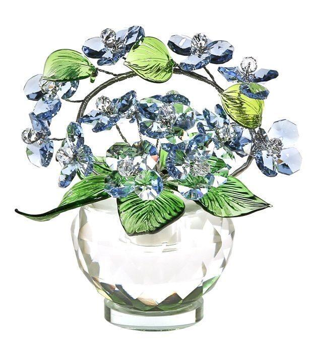 Хрустальный букет сваровски в вазочке Верность