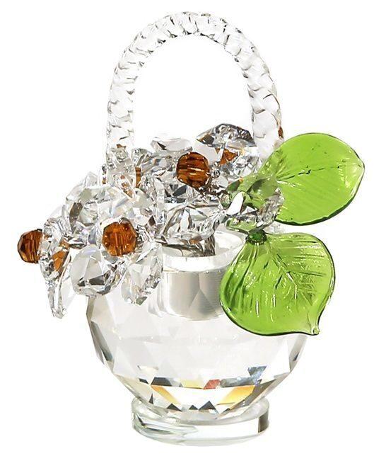 Корзинка цветов с кристаллами сваровски Хрустальные нарциссы