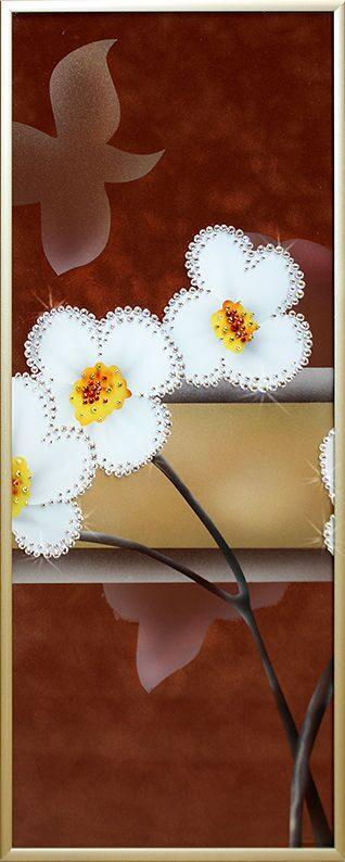 Картина с кристаллами Swarovski  Нарциссы-2