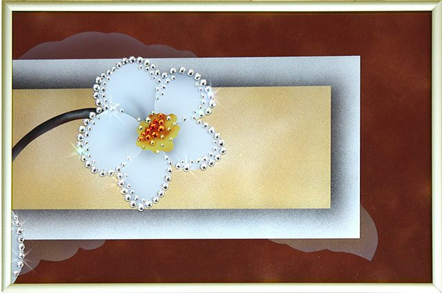 Картина с кристаллами Swarovski  Нарциссы-4