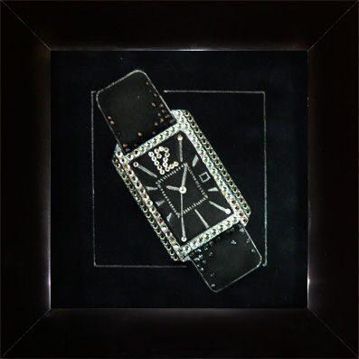 Картина с кристаллами Swarovski  Мужской стиль-Часы