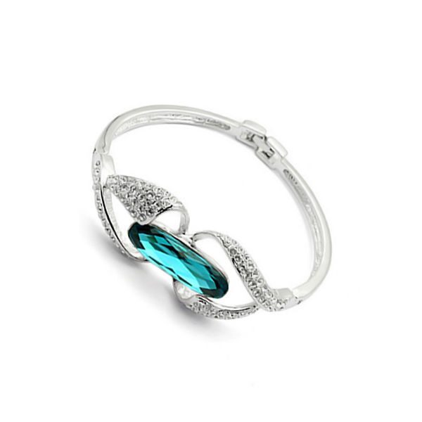 Браслет с кристаллами Сваровски Голубая лагуна