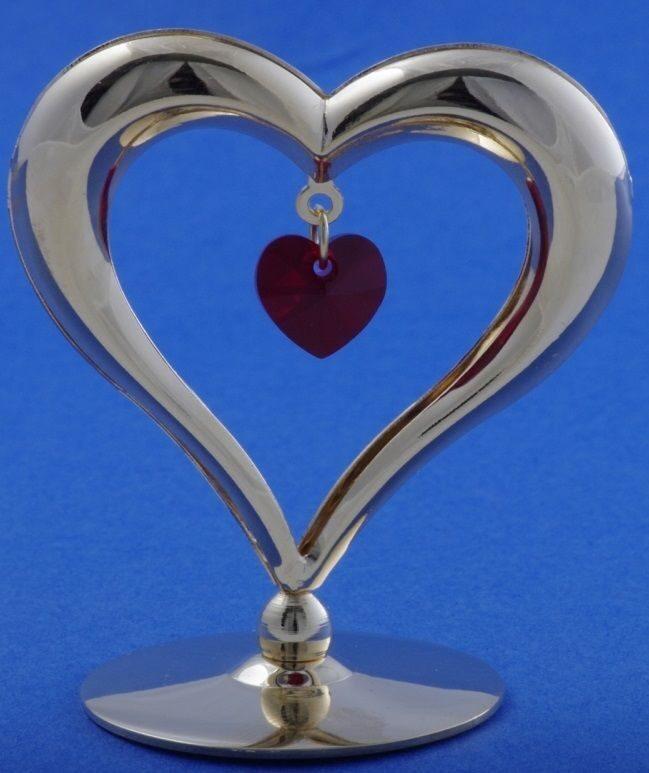 Фигурка с кристаллами Огненное сердце