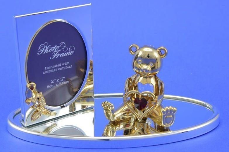 Фоторамка с кристаллами Swarovski Мишка