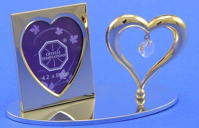 Фоторамка с кристаллами Swarovski Сердечко