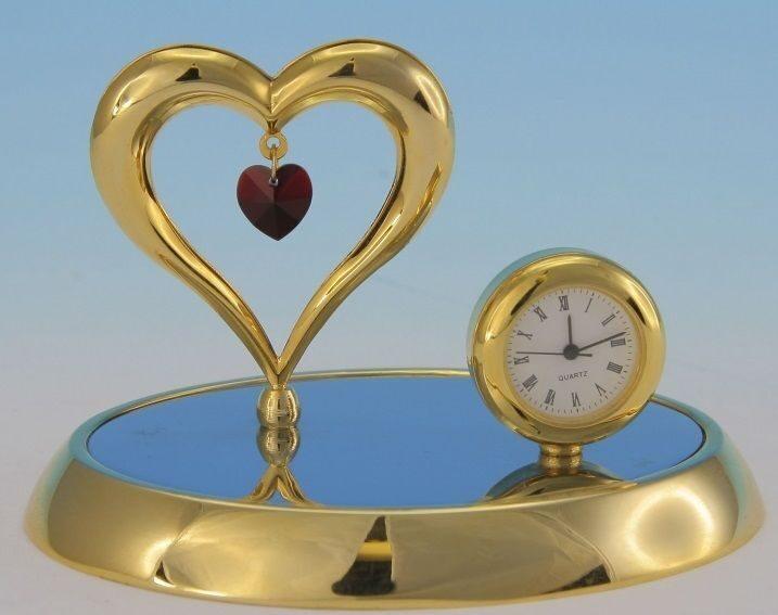 Фигурка декоративная с часами сваровски Сердце