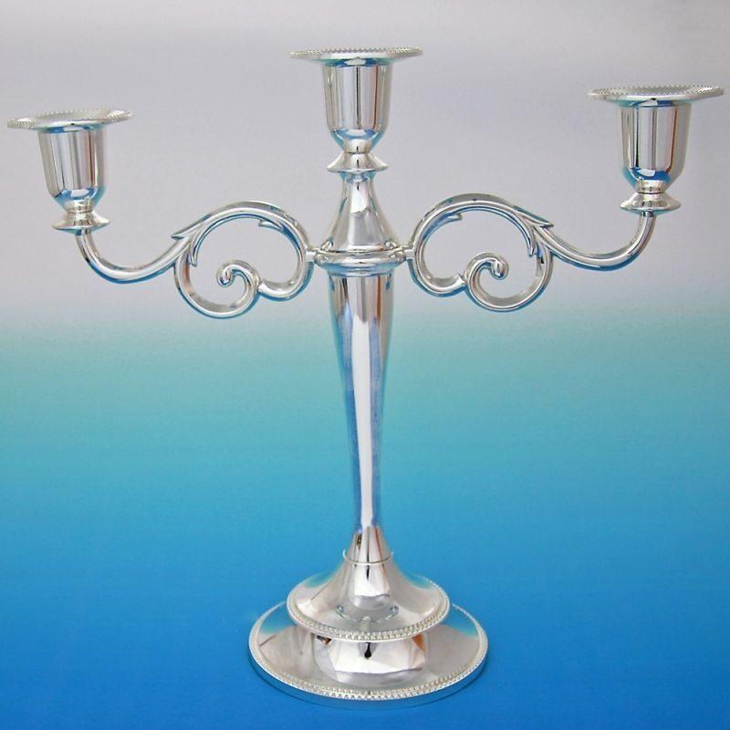 Канделябр на три свечи Узор