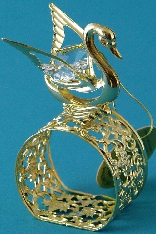 Кольцо для салфеток Лебедь