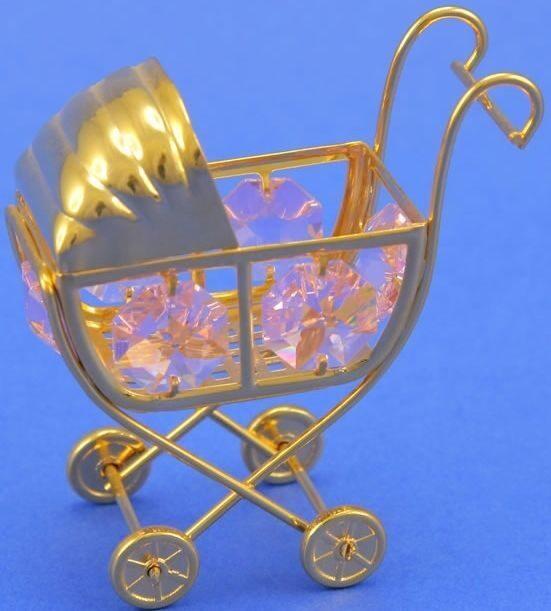Фигурка с кристаллами сваровски Коляска