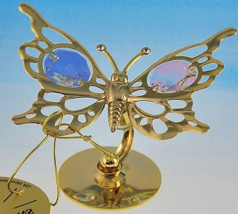 Фигурка Swarovski Бабочка с разноцветными хрусталиками
