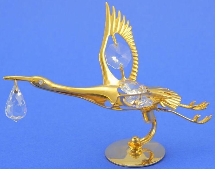 Фигурка с кристаллами сваровски Аист